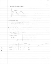 Chapter 4.3 Class Notes Derivatives and Shapes of Graphs