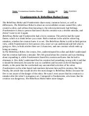 Reaching For The Stars Essay  Which Is That Pride And Excitement   Pages Rebellious Robot And Frankenstein Essay