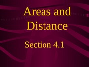4.1 Areas and Distances