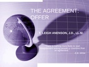 J - THE AGREEMENT - OFFER