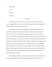 unv grand canyon university course hero 5 pages k gun control essay