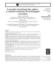Lawsuits involving the police.pdf