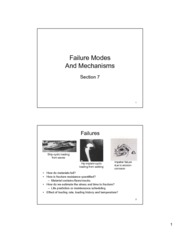 MAAE 2700 - Section 7 - Failure Modes and Mechanisms