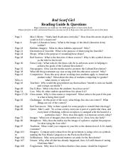 Red Scarf Girl Reading Guide & Questions.doc