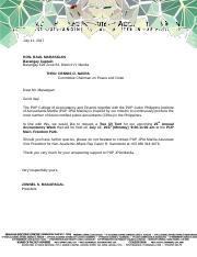 request letter for assistance 4docx hon raul marasigan barangay captain barangay 628 zone 63 district vi manila thru dennis o navra committee
