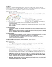 Introduction to cell bio- notes