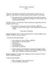 CRT 205 Chapter Two Notes Week 2