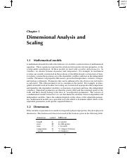 Dimensional Analysis and Scaling Chapt1