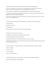 CUNY JJAY American Government and Politics Practice Quiz Chapter 5
