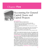 Chapter 5  Accounting for General Capital Assets and Capital Projects
