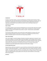 Assign 1-0913- TESLA - SUPPLY CHAIN.docx