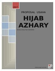 Proposal Bisnis Devy Doc Hijab Azhary 2017 Proposal Usaha Hijab