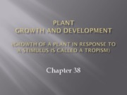chapter38 - plant growth and development
