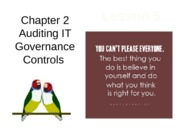 Chap02 Lesson5 Auditing IT Governance Controls