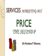 services Marketing-Mix Price