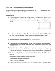 Applications of polynomial equations