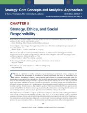 Strategy Core Concepts and Analytical Approaches - Chapter 9