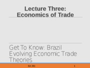 Lecture Three Econ Trade Theory