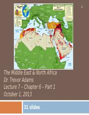Lecture 7 Oct 1 2013 Middle East Part 1
