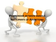 Relationship between various participants of Advertising (Presentation)
