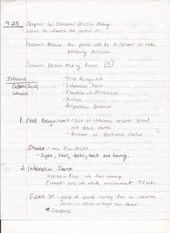 BUS ADM 322 Lecture Notes on Consumer Decision Making