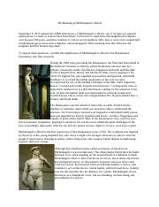 The Meaning of Michelangelo.doc