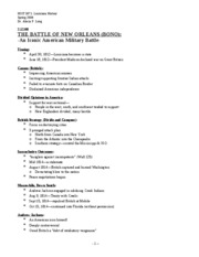 Lecture 7(Battle of New Orleans)