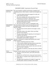 Research Paper Rubric EDUC 1111