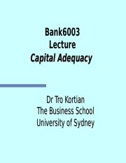 WEEK10 Capital adequacy 2015 (student).ppt