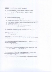 MTH 205-Pratice problems and solutions for Test -02-Su-09
