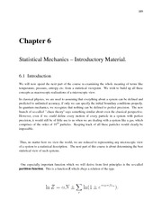 Thermal Physics lecture notes 6