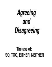 Agreeing and disagreeing - copia