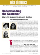 Understanding the Customer - What Do We Know about Requirements Elicitation