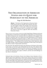 De Zela, Hugo. The OAS and the Quest for Democracy Yale Journal of IAffairs.  SUMMER-VOL8-2013