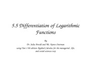 differentiationoflogarithmicfunctions