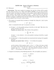 Exam 3 Version 1 Solution