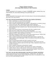 MKT 3010 Review Sheet Ch. 18: Advertising, Public Relations, and Sales Promotion