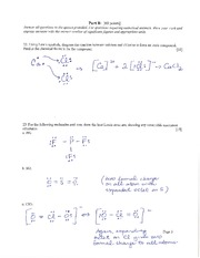 Solutions - Sample Exam 3 Section B only
