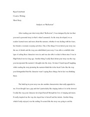 English 203 Reflection Paper
