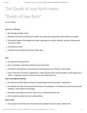 The Death of Ivan Ilyich notes_ ENG272 Online - WORLD LITERATURE II (CORLEY B) OP.pdf