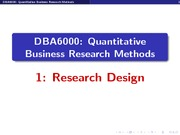 Cooper Quantitative Business Research Methods