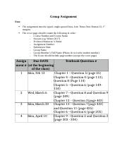 SCM 2160 Group Assignment Information .docx