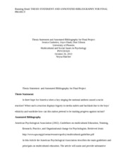 Dissertation annotated bibliography