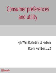 Week_2_Consumer preferences and utility.ppt