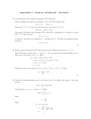 MATH 251 Assignment 7 Solutions