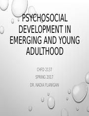 Sp2017 Psychosocial Development Young Adulthood.ppt