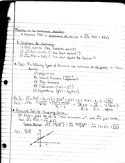MATH 1231 Lecture Notes on Continuity