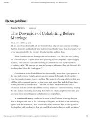 The Downside of Cohabiting Before Marriage - The New York Times.pdf