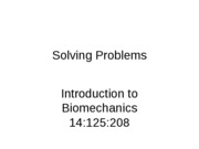 Biomech-Solving Problems-Lecture