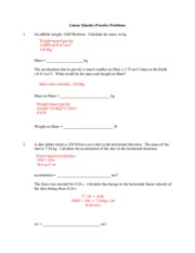 5_Linear Kinetics Practice Problems_ANSWERS